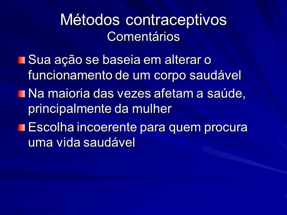 Métodos contraceptivos Comentários