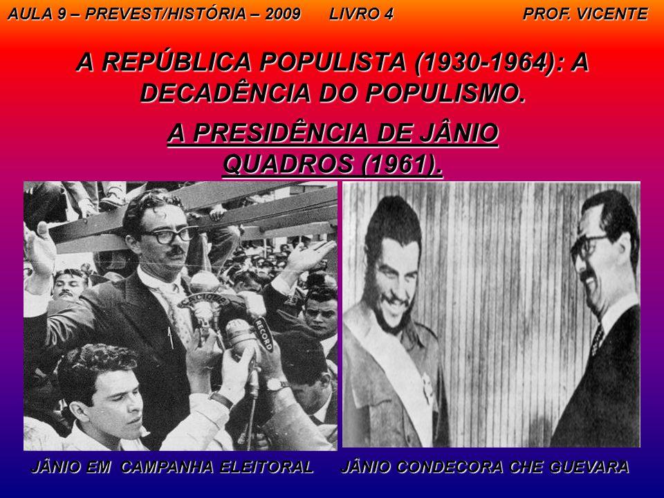 A REPÚBLICA POPULISTA (1930-1964): A DECADÊNCIA DO POPULISMO.
