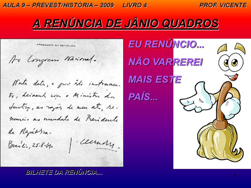 A RENÚNCIA DE JÂNIO QUADROS