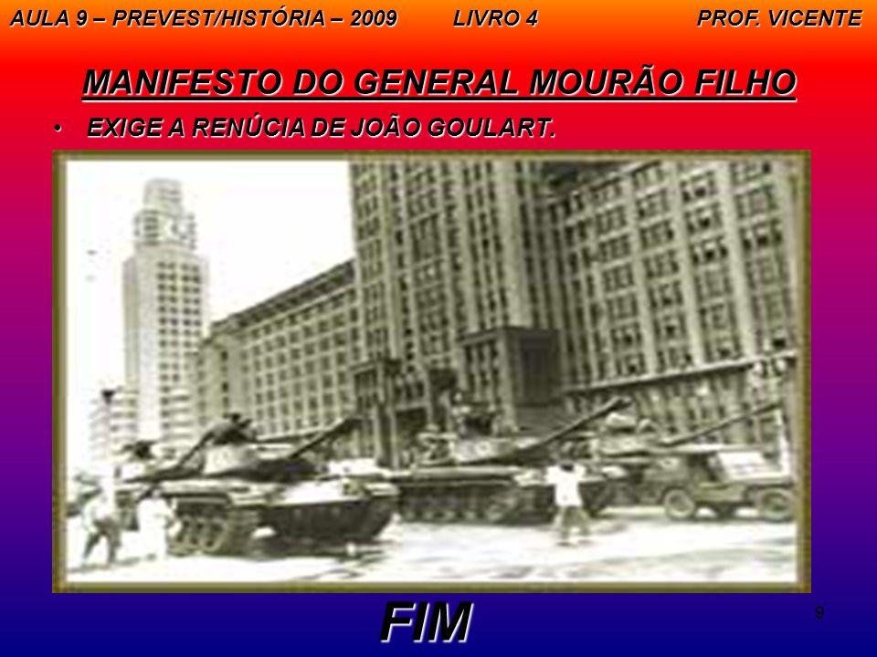 MANIFESTO DO GENERAL MOURÃO FILHO
