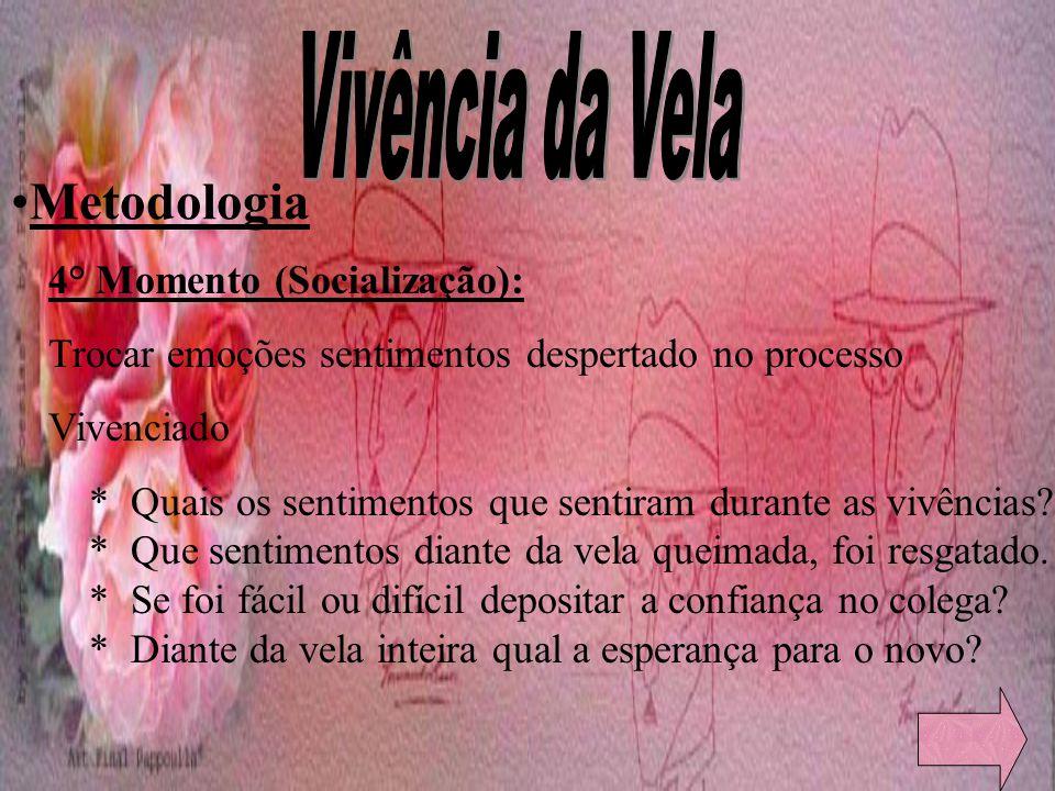 Vivência da Vela Metodologia 4° Momento (Socialização):