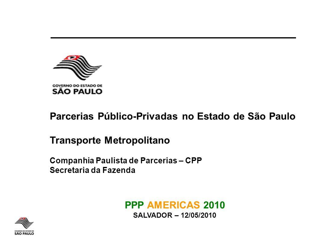 Parcerias Público-Privadas no Estado de São Paulo