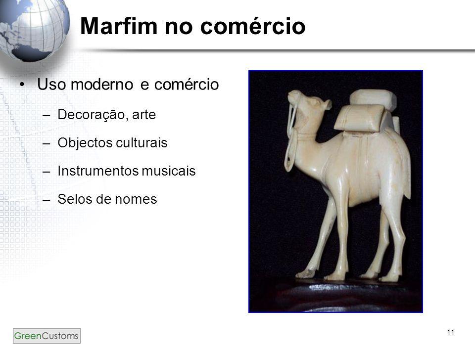 Marfim no comércio Uso moderno e comércio Decoração, arte