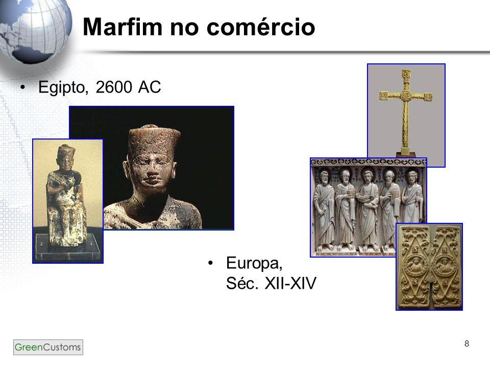 Marfim no comércio Egipto, 2600 AC Europa, Séc. XII-XIV
