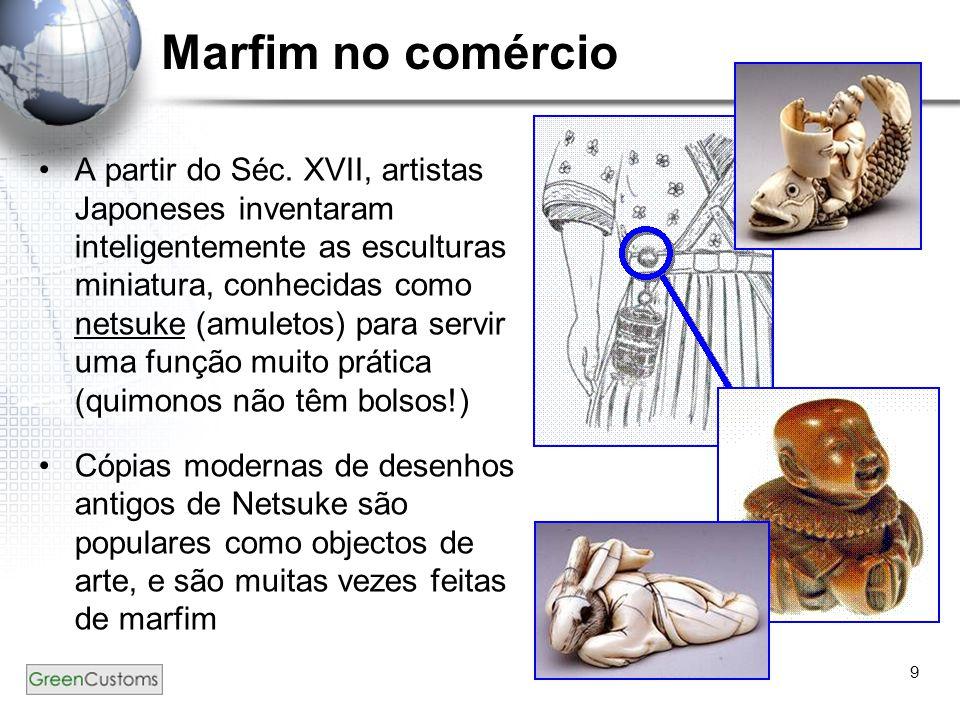 Marfim no comércio