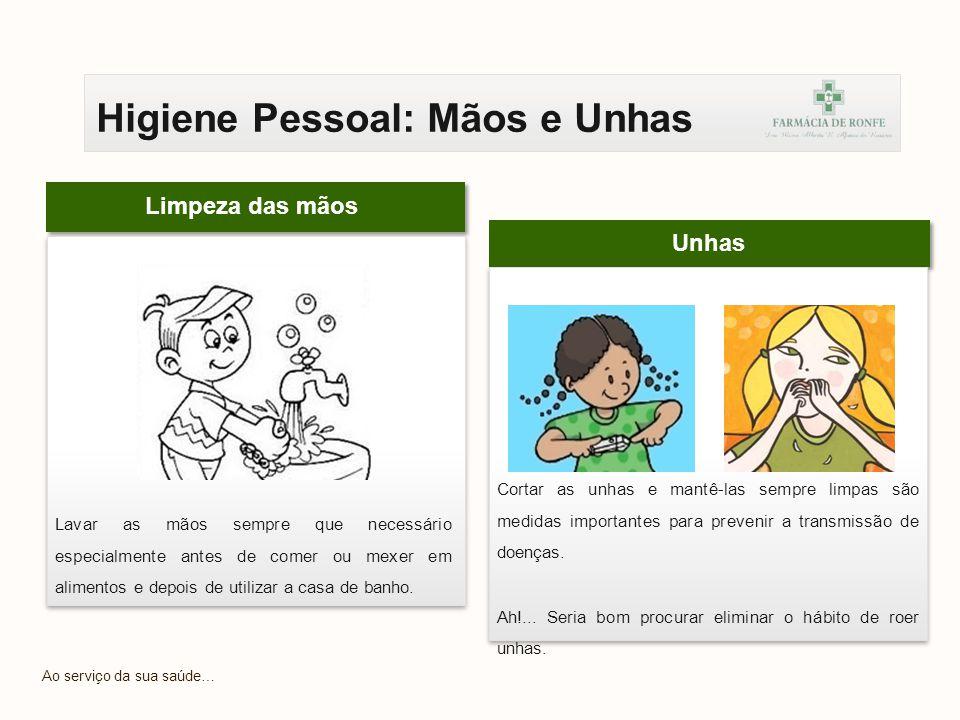Higiene Pessoal: Mãos e Unhas