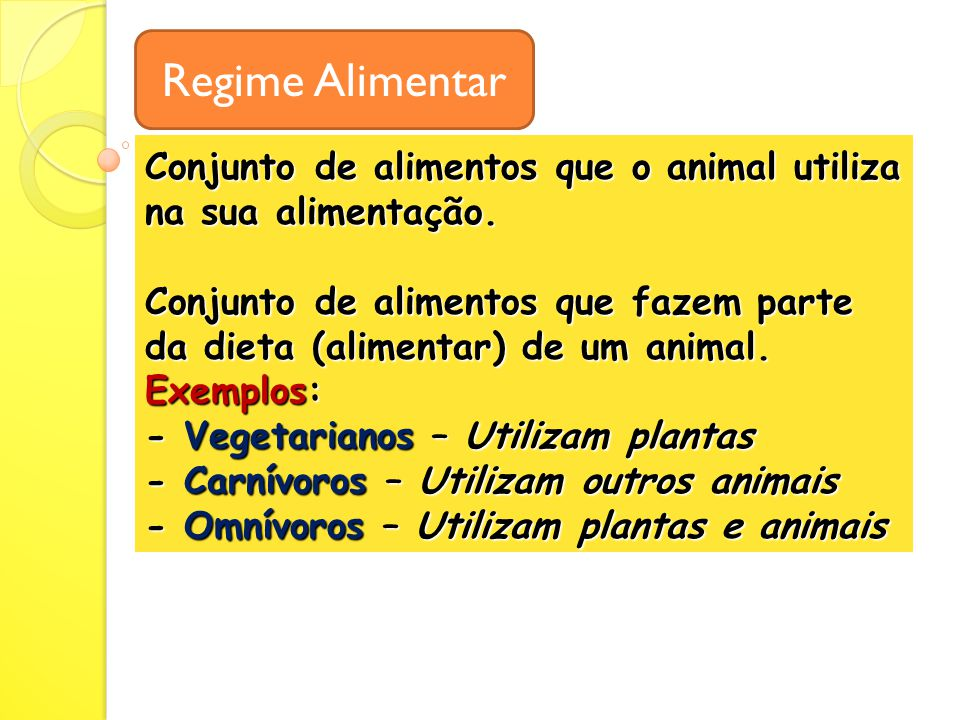 Regime Alimentar