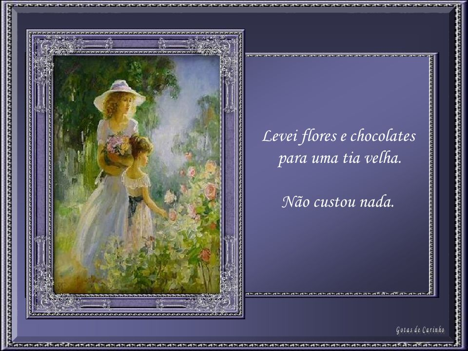 Levei flores e chocolates