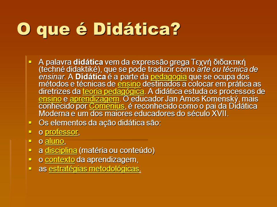 O que é Didática