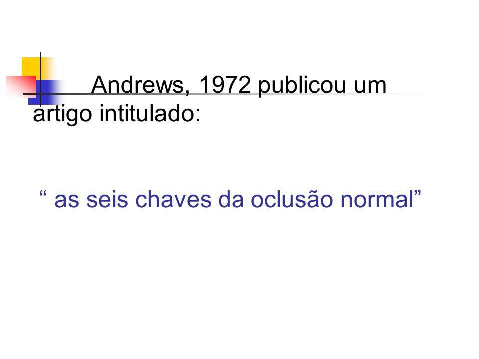 Andrews, 1972 publicou um artigo intitulado: