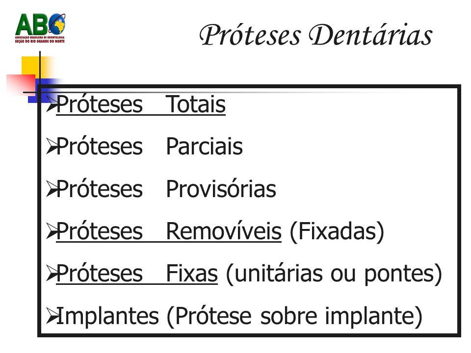 Próteses Dentárias Próteses Totais Próteses Parciais