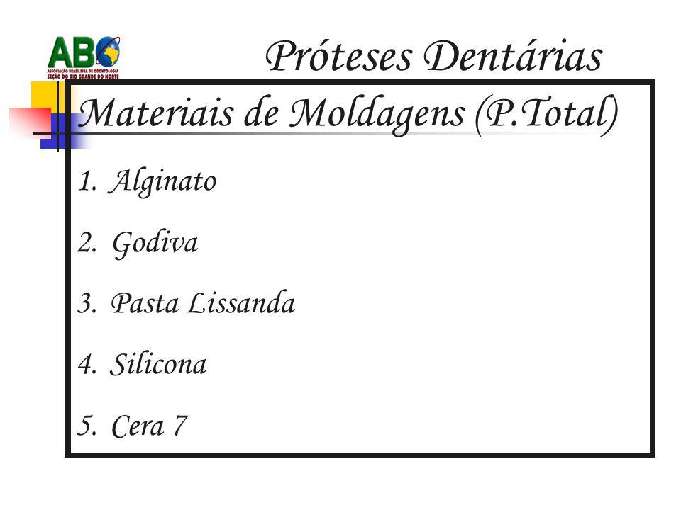 Próteses Dentárias Materiais de Moldagens (P.Total) Alginato Godiva
