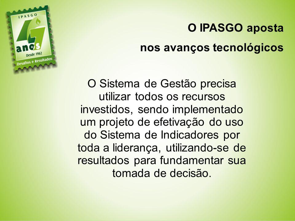 O IPASGO aposta nos avanços tecnológicos.