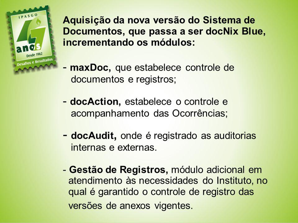docAudit, onde é registrado as auditorias