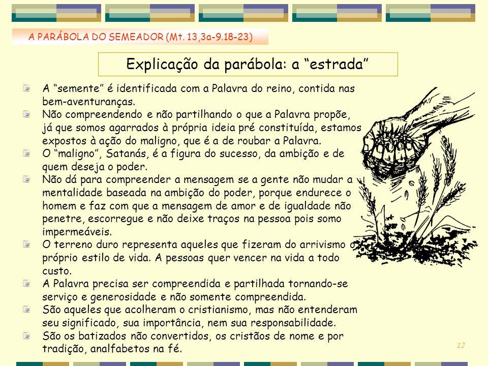 Explicação da parábola: a estrada