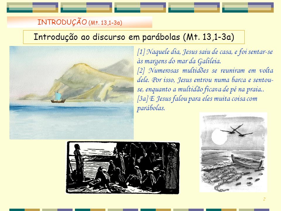 Introdução ao discurso em parábolas (Mt. 13,1-3a)
