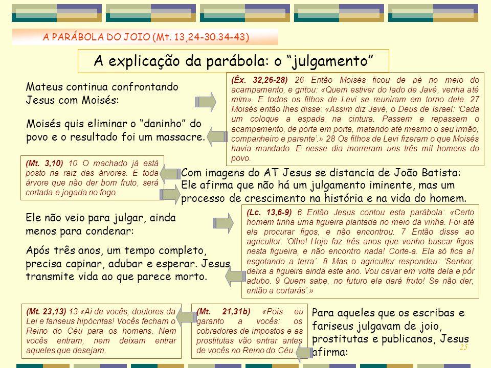 A explicação da parábola: o julgamento