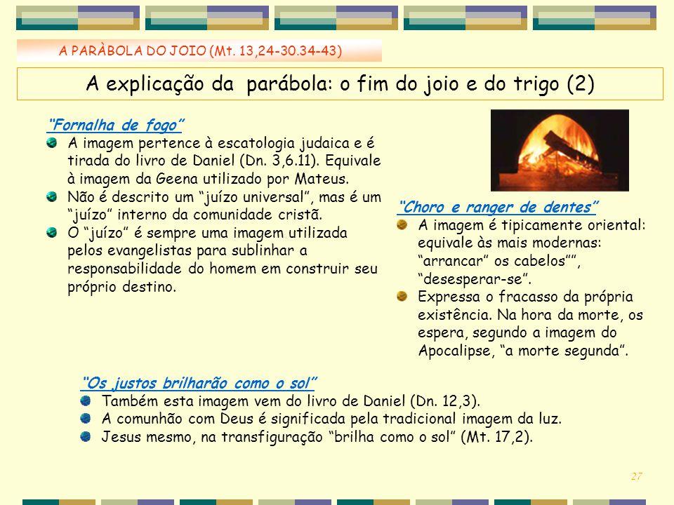 A explicação da parábola: o fim do joio e do trigo (2)