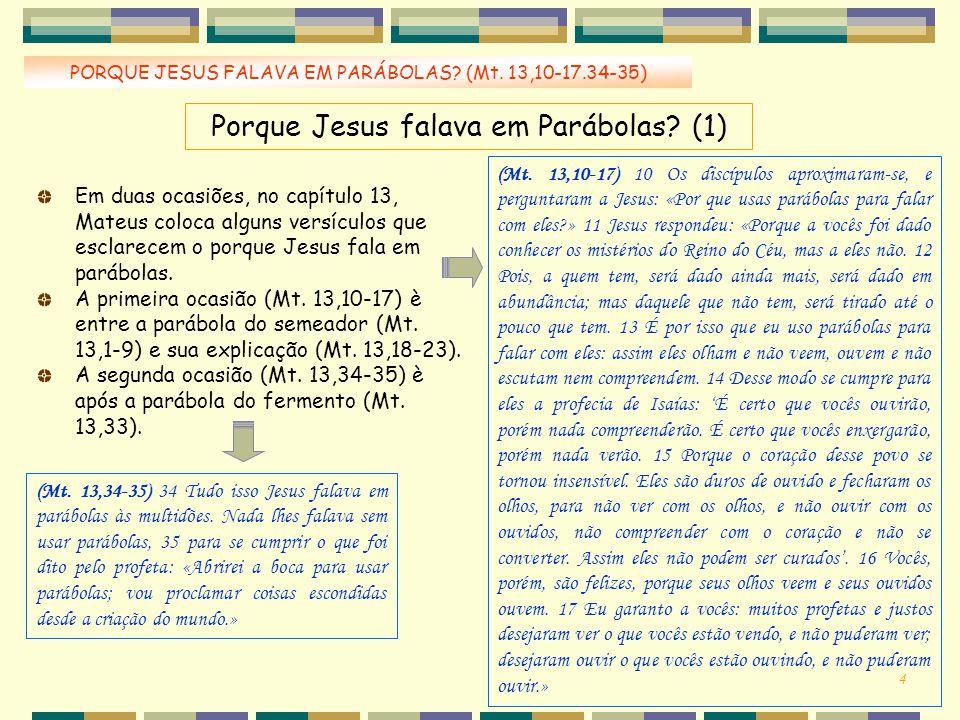 Porque Jesus falava em Parábolas (1)