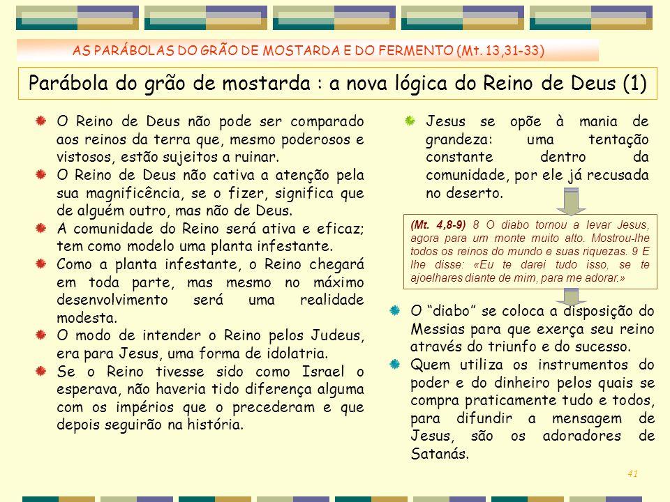 Parábola do grão de mostarda : a nova lógica do Reino de Deus (1)