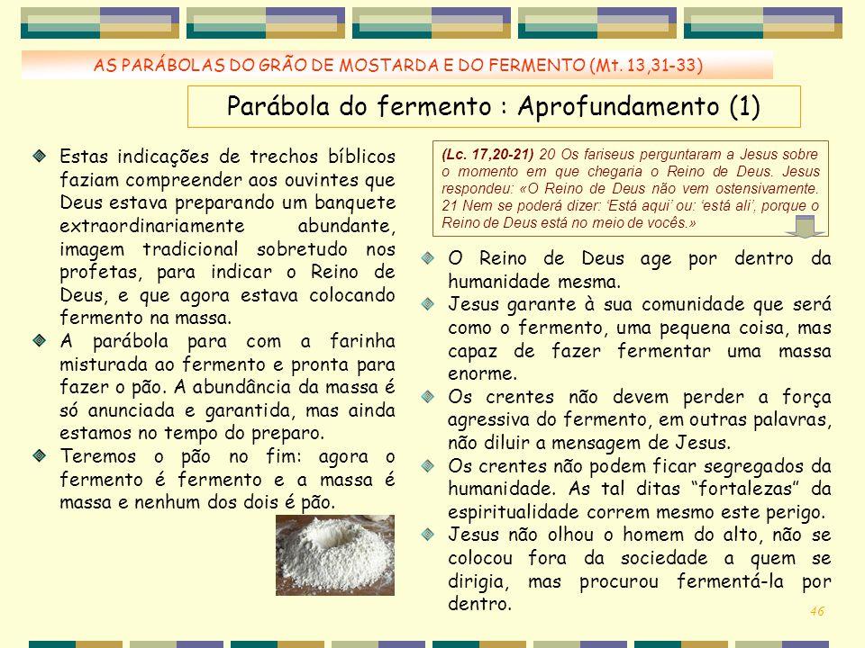 Parábola do fermento : Aprofundamento (1)