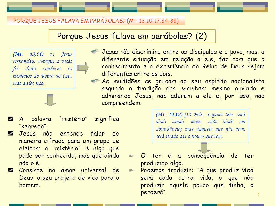 Porque Jesus falava em parábolas (2)