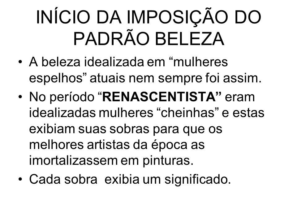 INÍCIO DA IMPOSIÇÃO DO PADRÃO BELEZA