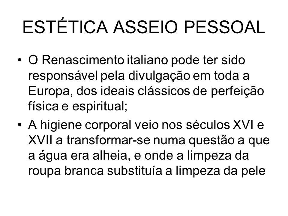 ESTÉTICA ASSEIO PESSOAL