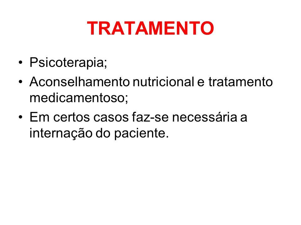 TRATAMENTO Psicoterapia;