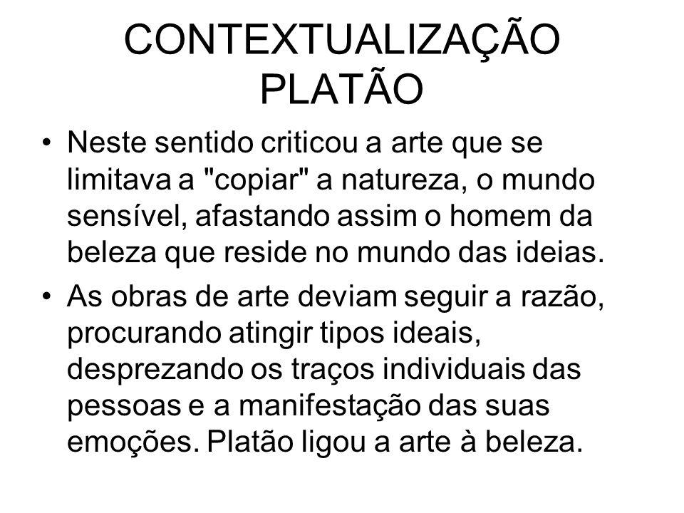 CONTEXTUALIZAÇÃO PLATÃO
