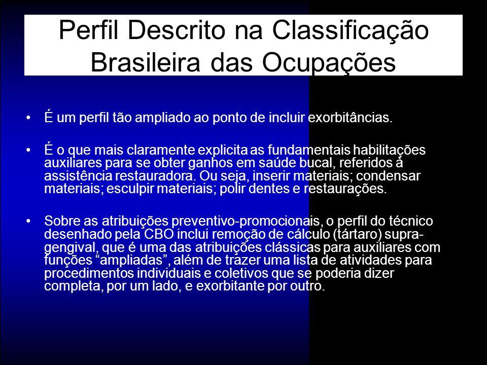 Perfil Descrito na Classificação Brasileira das Ocupações