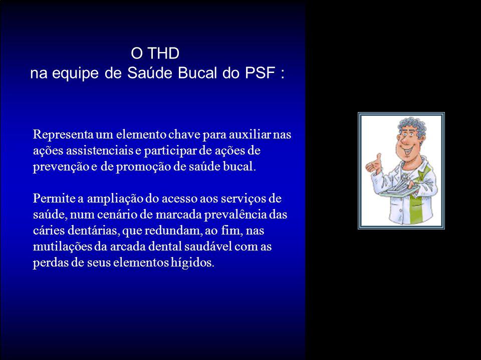 O THD na equipe de Saúde Bucal do PSF :