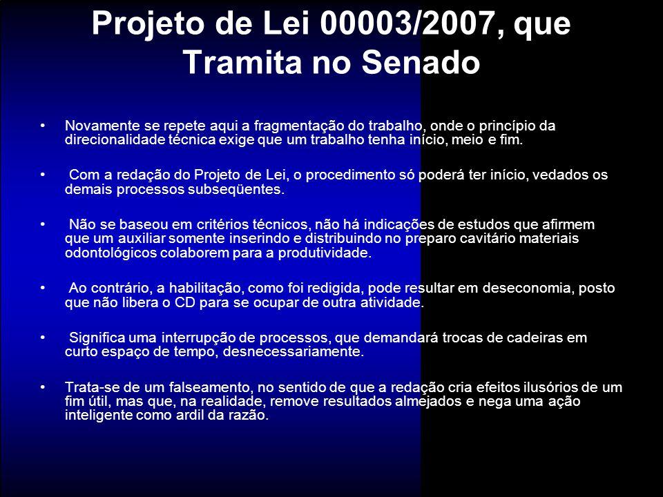 Projeto de Lei 00003/2007, que Tramita no Senado