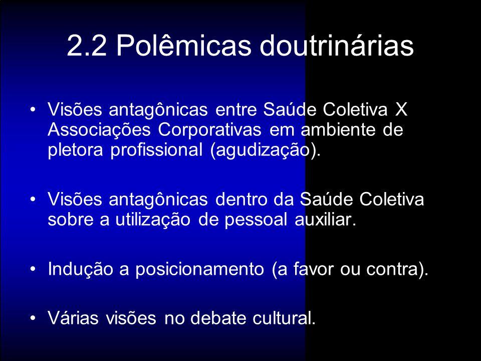 2.2 Polêmicas doutrinárias