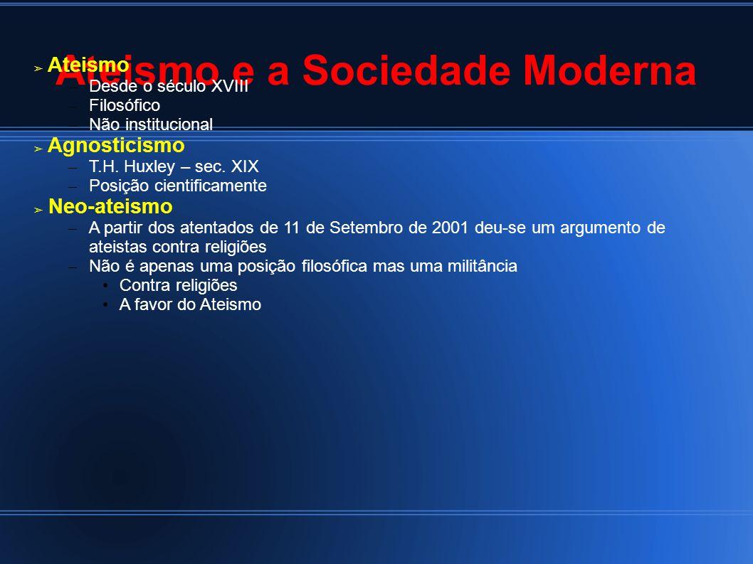 Ateismo e a Sociedade Moderna