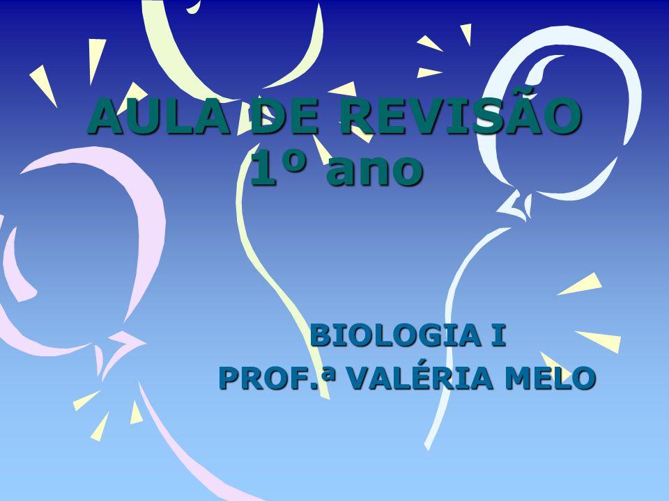 BIOLOGIA I PROF.ª VALÉRIA MELO