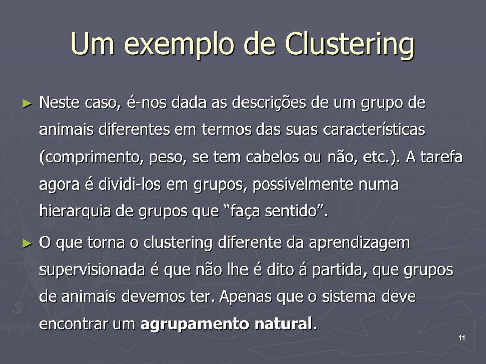 Um exemplo de Clustering