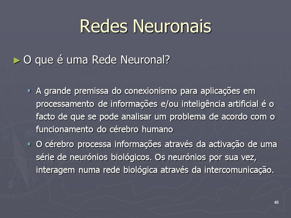 Redes Neuronais O que é uma Rede Neuronal