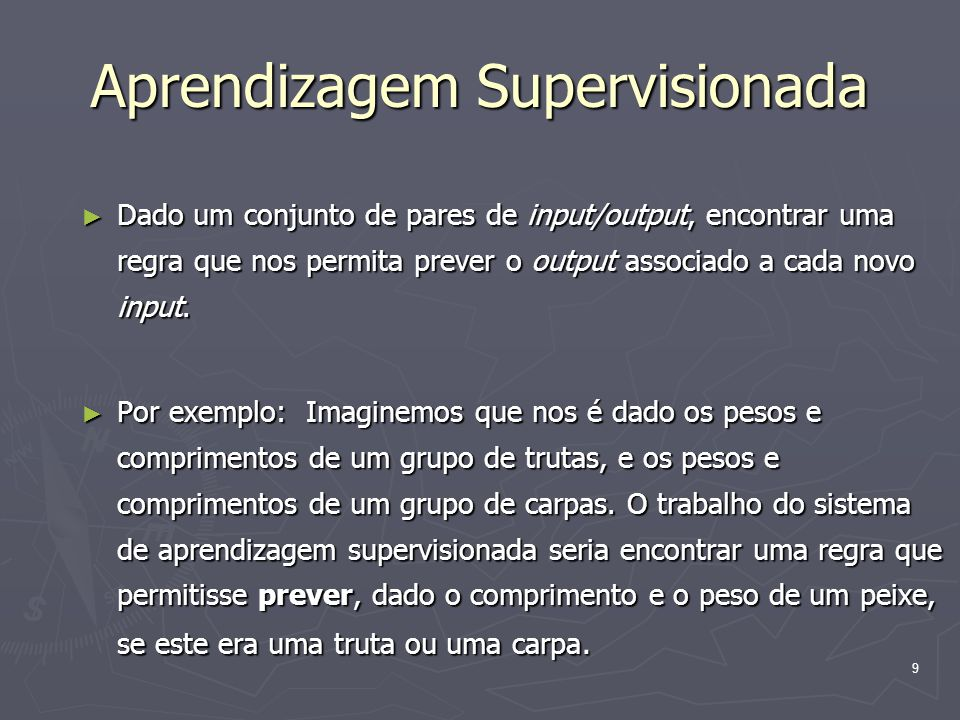 Aprendizagem Supervisionada