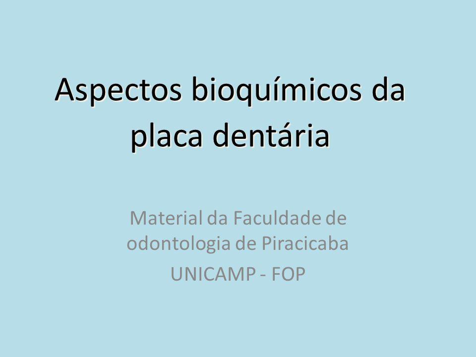Aspectos bioquímicos da placa dentária