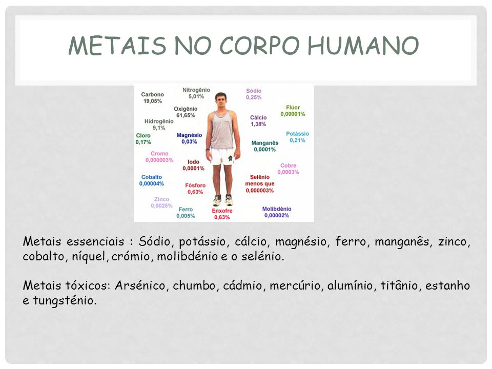 Metais no corpo humano