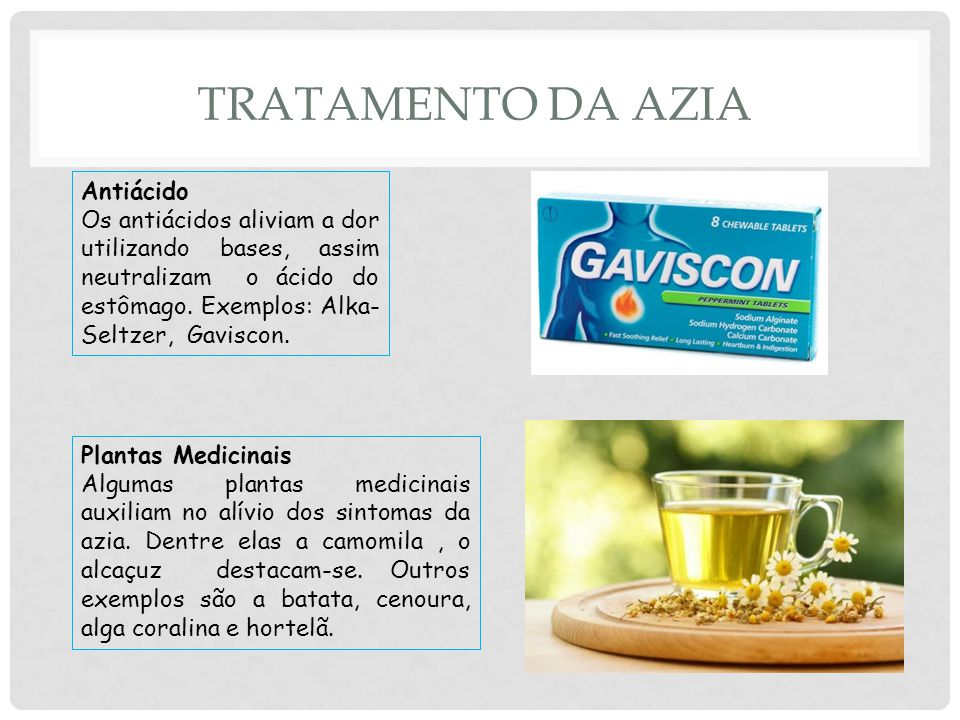 Tratamento da Azia Antiácido