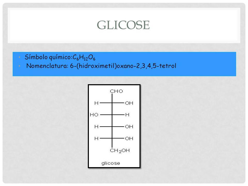 Glicose Símbolo químico:C6H12O6