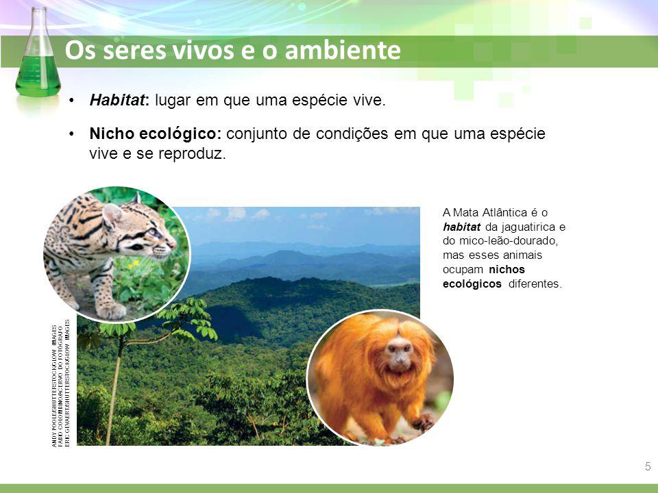 Habitat: lugar em que uma espécie vive.