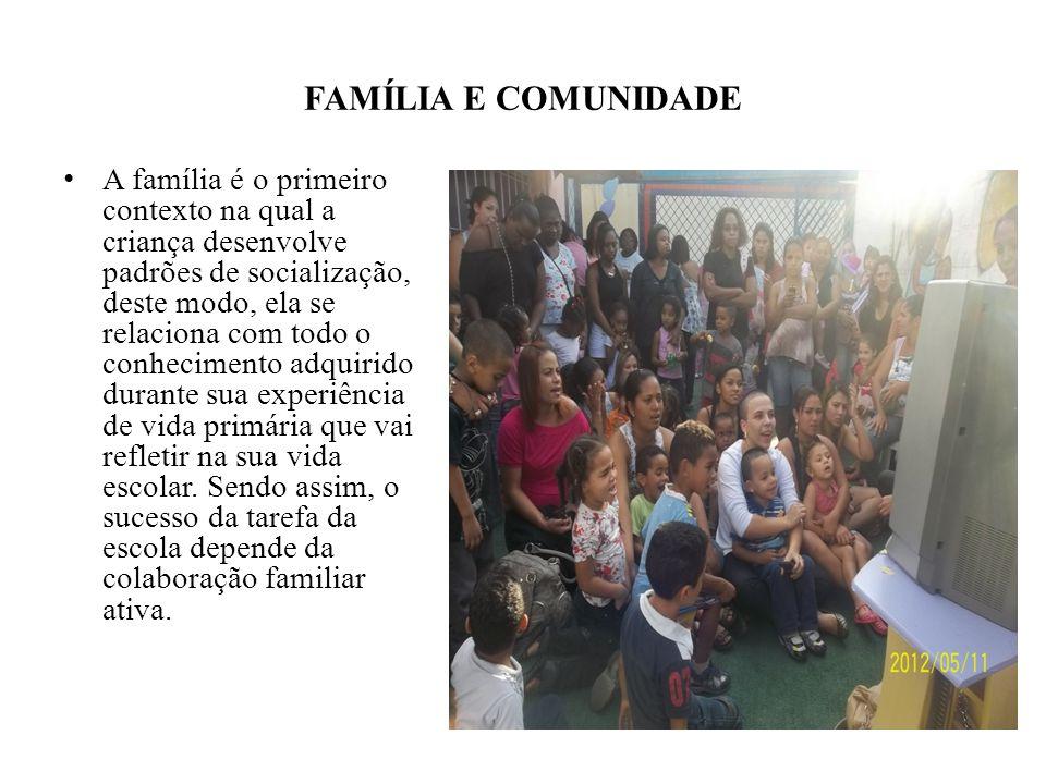 FAMÍLIA E COMUNIDADE
