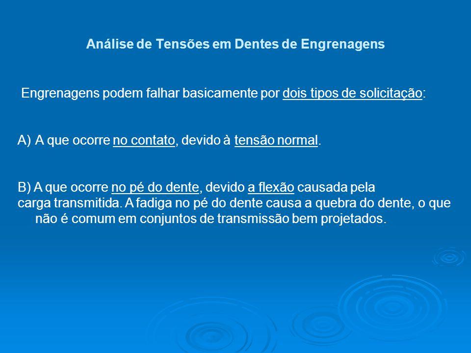 Análise de Tensões em Dentes de Engrenagens