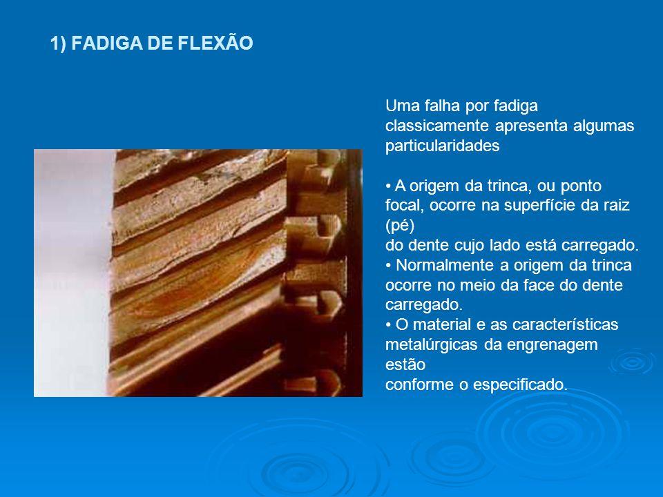 1) FADIGA DE FLEXÃO Uma falha por fadiga classicamente apresenta algumas particularidades.