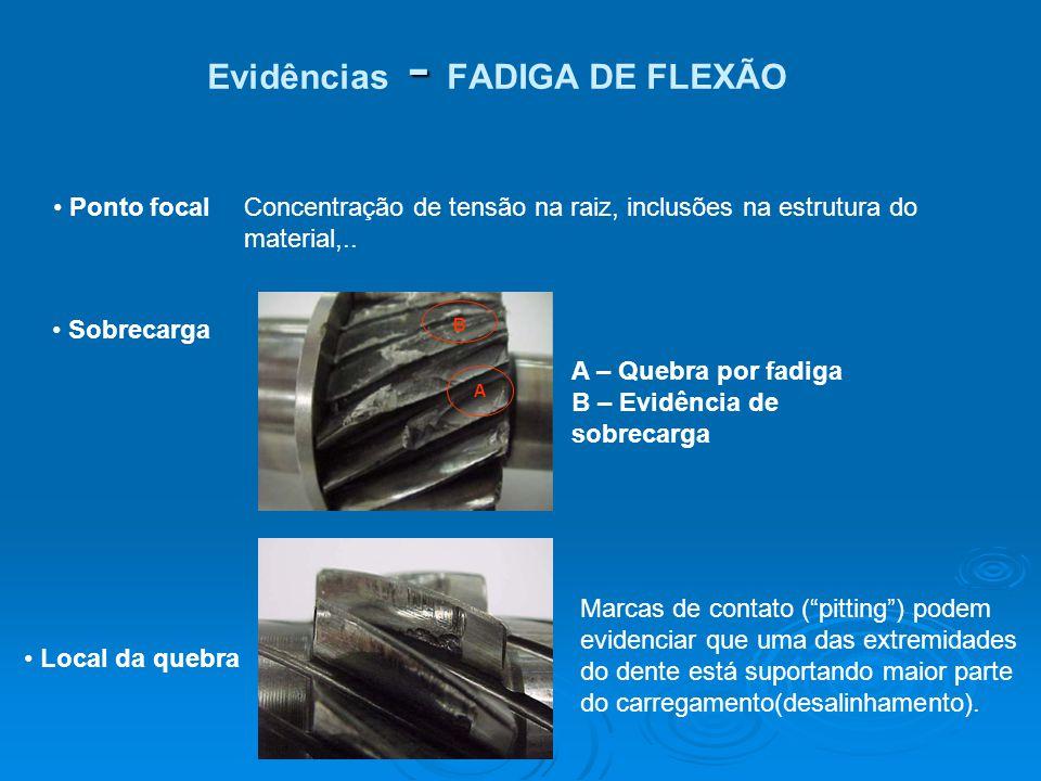 Evidências - FADIGA DE FLEXÃO