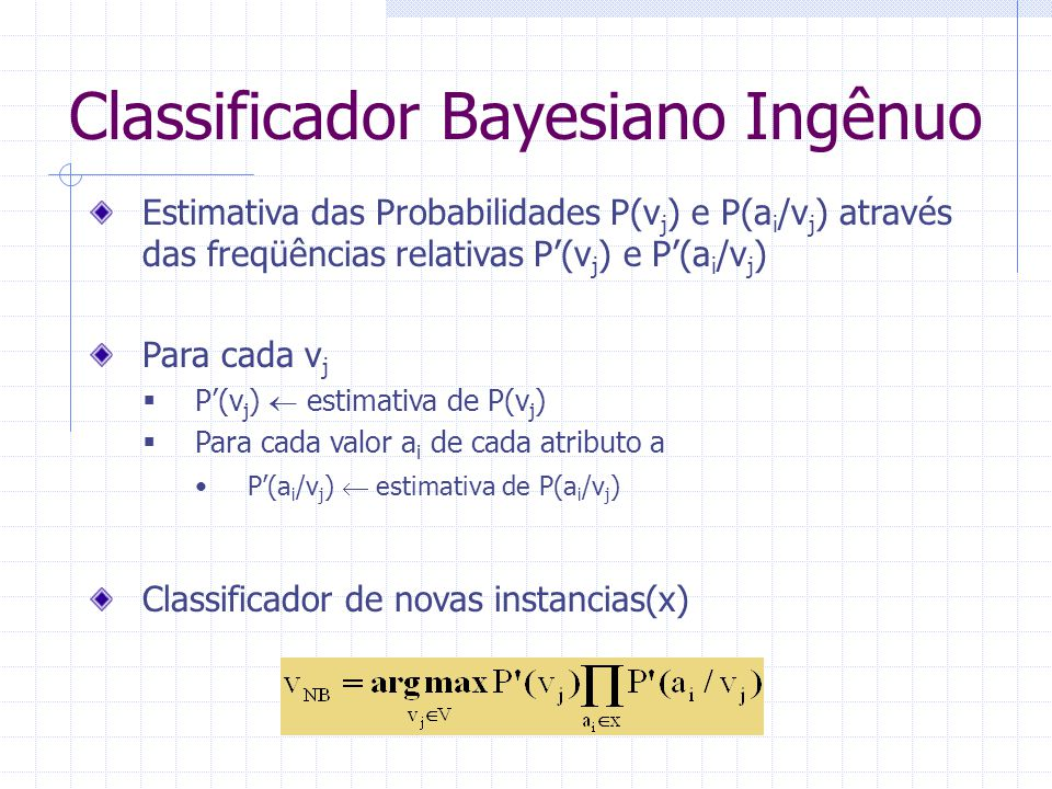 Classificador Bayesiano Ingênuo
