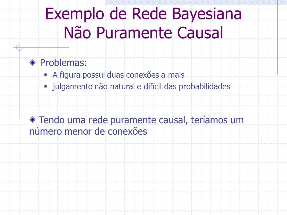 Exemplo de Rede Bayesiana Não Puramente Causal